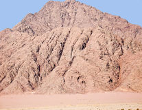 Montagna nel penisola del Sinai, Egitto Immagini Stock Libere da Diritti