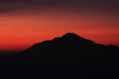 Montagna nel tramonto Fotografie Stock Libere da Diritti