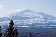 Montagna nell'inverno Immagine Stock