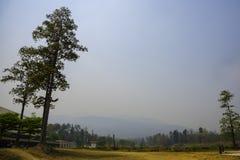 Montagna nella nebbia di inquinamento, Chiang Mai Thailand fotografia stock