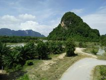 Montagna nella vista della Tailandia Fotografia Stock Libera da Diritti