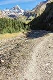 Montagna nelle alpi di estate Fotografia Stock Libera da Diritti