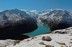 Montagna nelle alpi di Zillertal Immagini Stock