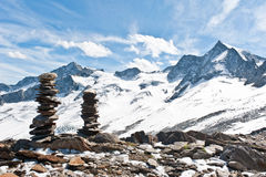 Montagna nelle alpi di Zillertal Immagine Stock