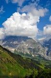 Montagna nelle nuvole, Svizzera Fotografia Stock