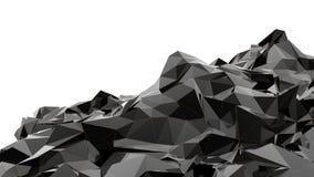 Montagna nera Fotografia Stock Libera da Diritti