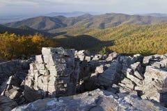 Montagna nera della roccia, parco nazionale di Shenandoah Fotografie Stock
