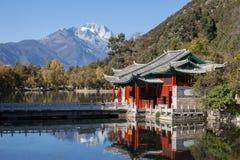 Montagna nera di Dragon Pool Jade Dragon Snow in Lijiang, il Yunnan, fotografia stock libera da diritti