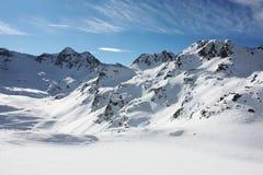 Montagna nevicata Immagini Stock