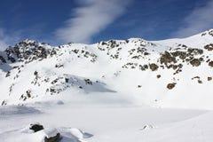 Montagna nevicata Immagini Stock Libere da Diritti