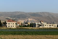 Montagna nociva dagli esseri umani nel Libano fotografie stock