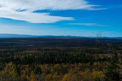 Montagna norvegese nei bei colori di caduta Fotografia Stock Libera da Diritti