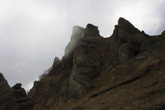 Montagna in nuvola Immagine Stock
