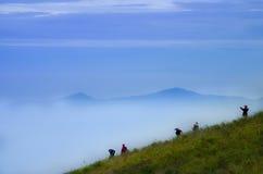 Montagna, parco nazionale di Doi Inthanon, Tailandia Fotografie Stock