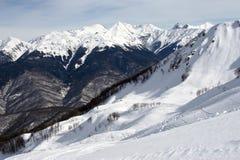 Montagna per gli sport di inverno Immagini Stock Libere da Diritti