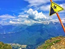 Montagna pericolosa Fotografia Stock