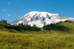 Montagna più piovosa, valle di paradiso, traccia dell'orizzonte, ad agosto Fotografia Stock