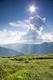 Montagna piena di sole. Immagini Stock Libere da Diritti