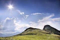 Montagna piena di sole. Fotografie Stock Libere da Diritti