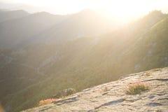 Montagna piena di sole Fotografie Stock