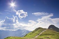 Montagna piena di sole - Tatra. La Polonia. Fotografie Stock