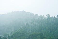 Montagna in pioggia Fotografie Stock Libere da Diritti