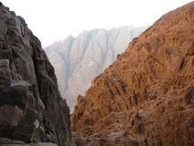 Montagna rampicante Moses Egypt Immagini Stock
