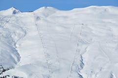 Montagna ripida di corsa con gli sci Immagine Stock Libera da Diritti