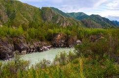 Montagna River Valley fotografia stock