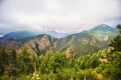 Montagna rocciosa di Colorado scenica Immagini Stock
