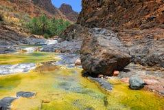 Montagna rocciosa, Yemen Fotografia Stock