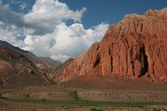 Montagna rossa fotografie stock libere da diritti
