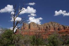 Montagna rossa della roccia Fotografie Stock