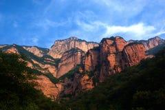 Montagna rossa di Zhangshiyan Fotografia Stock