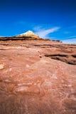 Montagna rossa e bianca dell'Australia della roccia Fotografia Stock Libera da Diritti