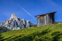 Montagna Sassongher, Corvara in Badia, Tirolo del sud, Italia Fotografia Stock Libera da Diritti