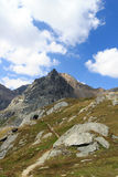 Montagna Saulkopf, alpi di Hohe Tauern, Austria Fotografie Stock