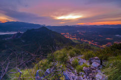 Montagna Scape di alba Immagini Stock