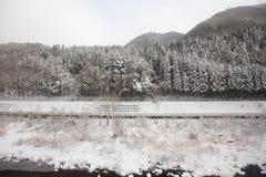 Montagna scenary a Takayama Immagini Stock Libere da Diritti