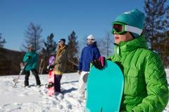 Montagna-sciatore Fotografia Stock