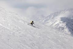 Montagna-sciatore Fotografie Stock
