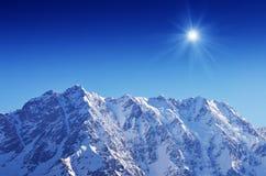 Montagna Shkhara Fotografia Stock Libera da Diritti