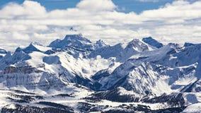 Montagna Ski Resort e parco nazionale Alberta Canada di Assiniboine Banff del supporto Fotografia Stock