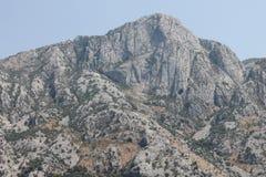 Montagna sopra la baia di Cattaro Fotografia Stock Libera da Diritti