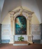 Montagna Spaccata fristad i Gaeta, landskap av Latina, Lazio, centrala Italien fotografering för bildbyråer