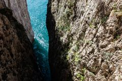 Montagna Spaccata, Gaeta, Latina, Itália foto de stock