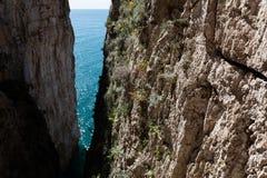 Montagna Spaccata, Gaeta, Latina, Itália fotos de stock royalty free