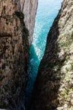 Montagna Spaccata, Gaeta, Latina, Itália imagens de stock