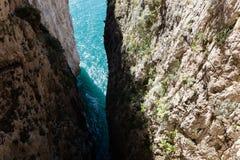 Montagna Spaccata, Gaeta, Latina, Itália Imagem de Stock Royalty Free