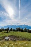 Montagna stante latente in Austria Fotografia Stock